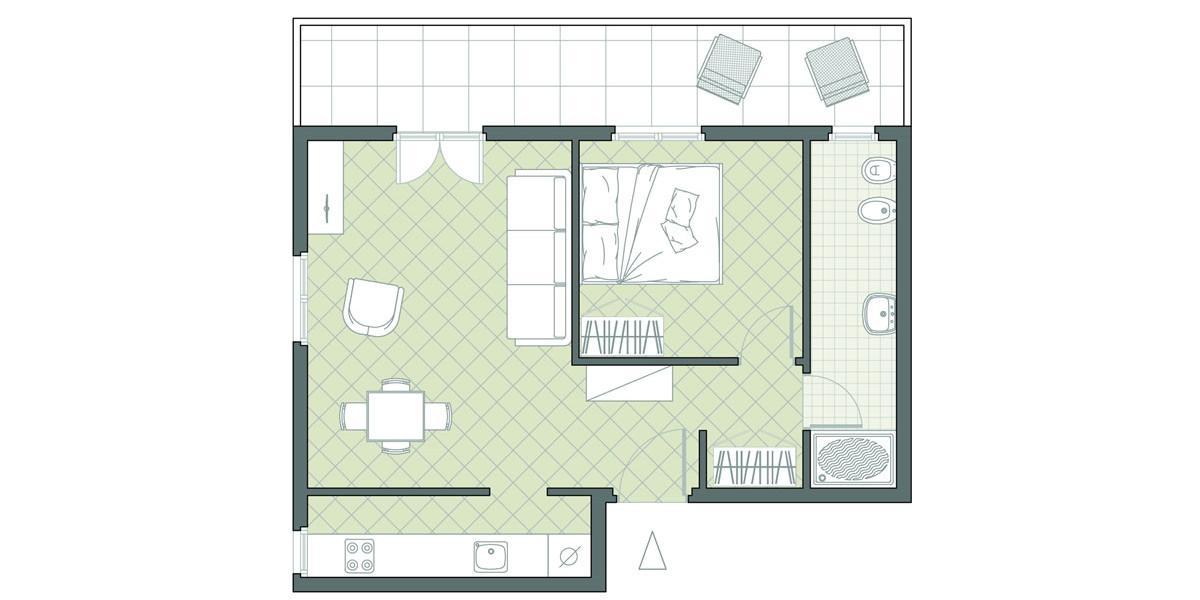 Bilocale fronte mare n. 23 Residence Due Mari