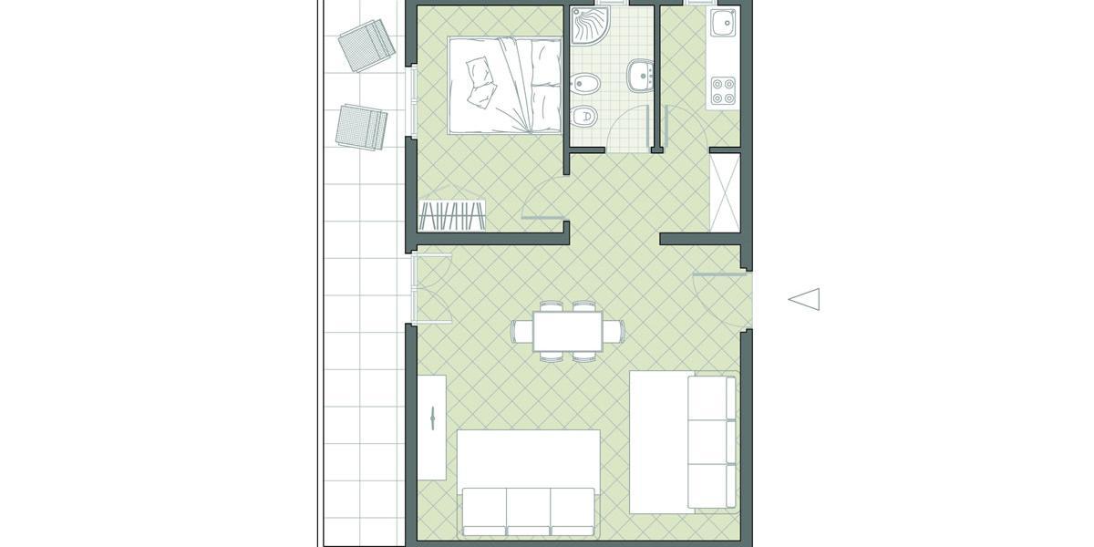 Bilocale fronte mare n. 35 Residence Due Mari