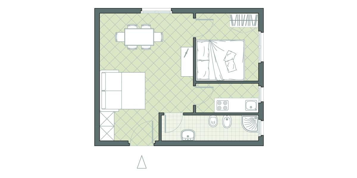 Two room apartment num. 22 Residence Due Mari
