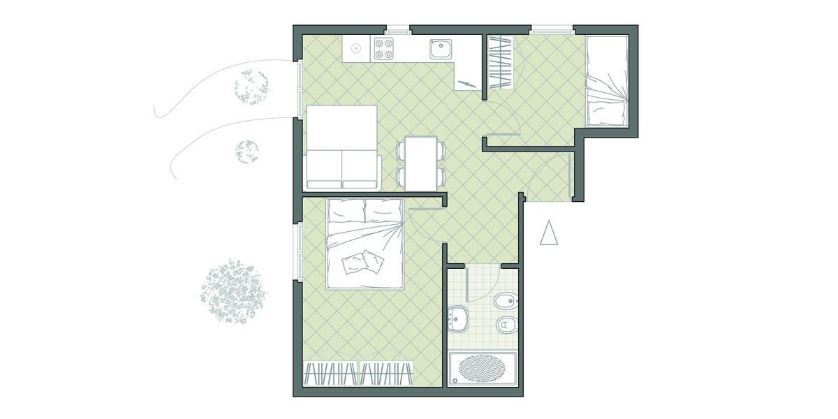 Dreizimmer-Apartment am Meer Nr. 16 Residence Due Mari