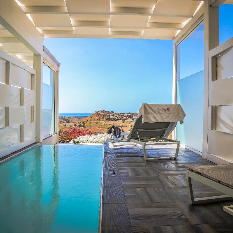 Chambre Deluxe avec piscine privée Doric Bed Boutique Hotel